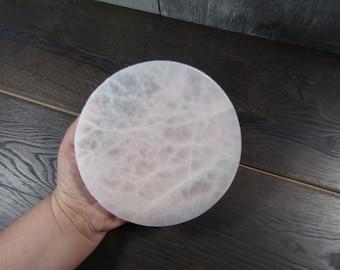 Selenite Flat Round Plate 6 inch SL56
