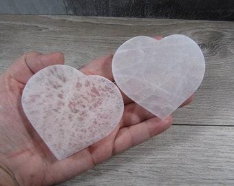 Selenite Heart Flat Grid Charging Plate SL75