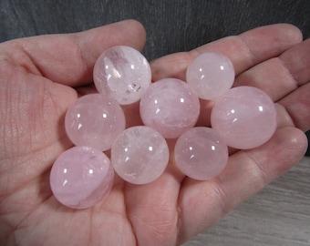Rose Quartz Stone Sphere 18 to 23 mm S 80