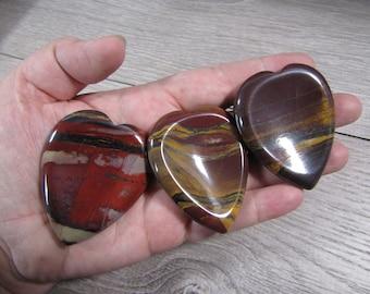 Tiger Iron Heart Worry Stone E96