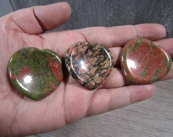Unakite Heart Worry Stone E104