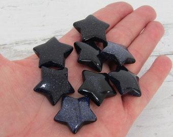 Blue Goldstone Gemstone Star K140