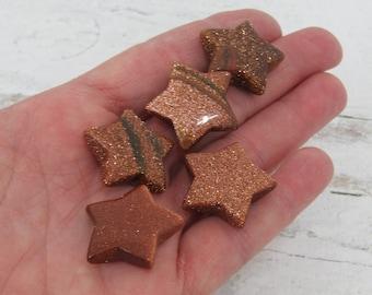 Goldstone Gemstone Star K146