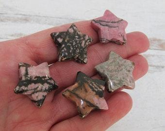 Rhodonite Gemstone Star K131