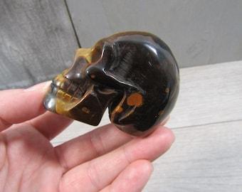 Tiger Eye Skull 5.6 oz  #4156 cc