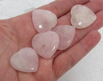 Rose Quartz Flat Heart K109