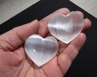 Puffy Selenite Heart SL5