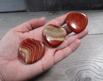 Red Jasper Heart Worry Stone E5