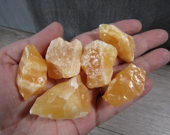 Orange Calcite Chunk Large U119