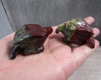 Dragon Stone 1.5 inch plus Eagle Figurine Fig88