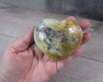 Dendritic Opal Heart 8.6 oz  #8116 cc