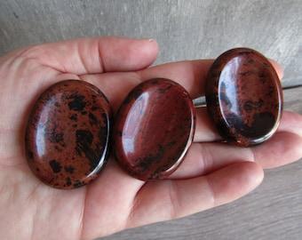 Mahogany Obsidian Worry Stone E17