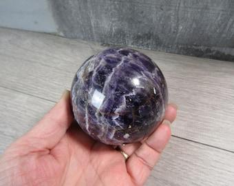 Amethyst Sphere 77 mm 1Lb 6.3 ounce #7145 cc