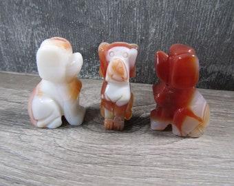 Carnelian 2 inch Dog Figurine Fig94