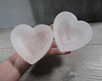 Selenite Shaped Heart Bowl 4 inch SL35