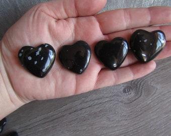 Snowflake Obsidian Thin Heart K219