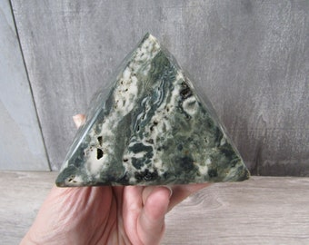 Ocean Jasper Large Pyramid 1 Lb 13.8 ounces  7965 cc