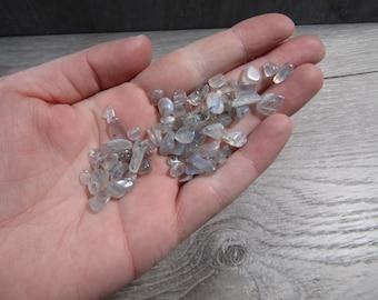 Labradorite Tumbled Chip Stone Small Bag T200