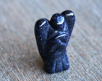 Blue Goldstone Angel Figurine F188