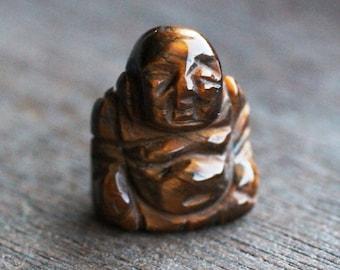 Tiger Eye Stone Buddha Figurine F150