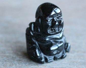 Obsidian Stone Buddha Figurine F53