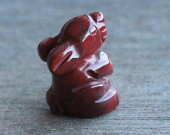 Red Jasper Bunny Rabbit Figurine F290