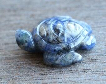 Sodalite Stone Sea Turtle Figurine F158
