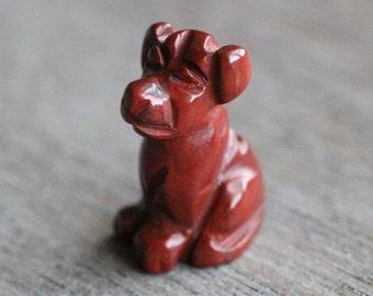 Red Jasper Dog Figurine F261