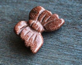Goldstone Stone Butterfly Figurine F17