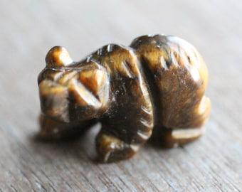 Tiger Eye Bear Animal Figurine F286