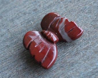 Red Jasper Butterfly Stone Figurine F233