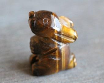 Tiger Eye Bunny Rabbit Figurine F289