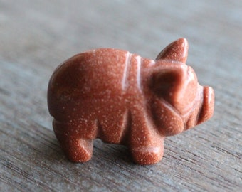 Goldstone Pig Figurine F5