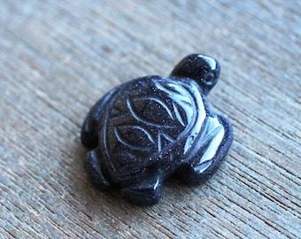Blue Goldstone Sea Turtle Figurine F51