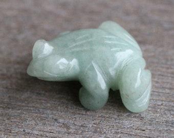 Aventurine Stone Frog Figurine Fig 131
