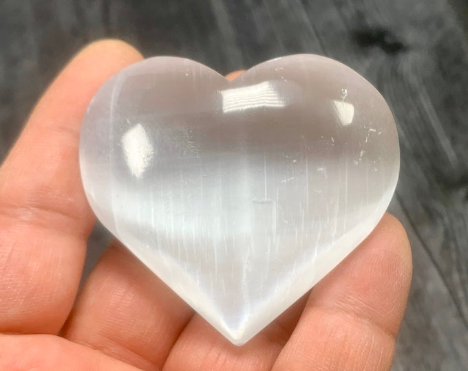 Featured listing image: Large Selenite Puffy Heart SL21