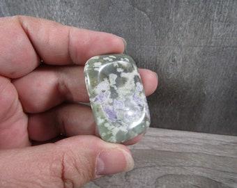 Peace Jade Rectangle Worry Stone E123