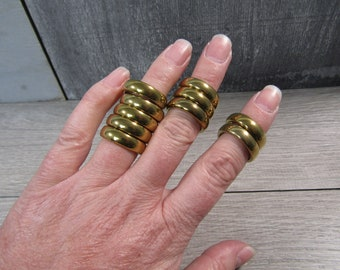 Gold Hematite Ring 21-22 mm Size 7 Approx M20