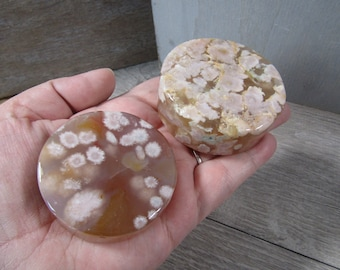 Flower Agate Round Large Disk M180