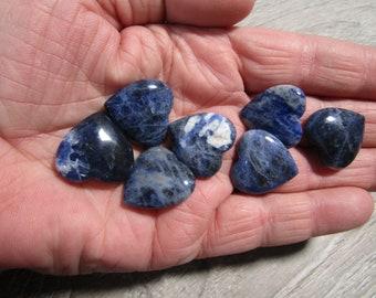 Set of 10 Sodalite Small Shaped Heart K375