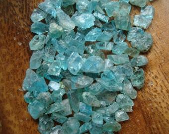 3 Super Mini Blue Apatite Crystal Chips T90