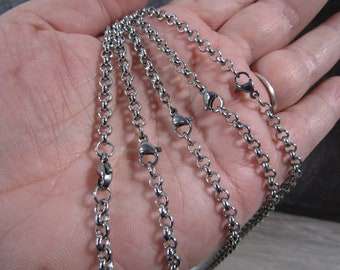 Stainless Steel Rolo Chain P12
