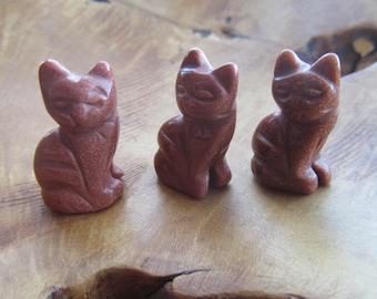 Goldstone Cat Figurine F23