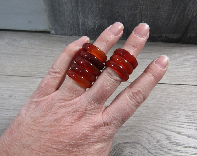 Featured listing image: Carnelian Ring 23 mm Size 7 Approx. M165