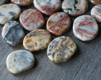 Crazy Lace Agate Small Flat Disk J120
