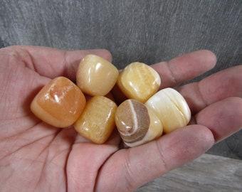 Orange Calcite Small / Medium Tumbled Stone T152
