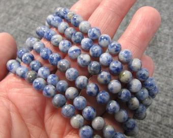 Blue Spot Jasper 6 mm Round Bracelet G271