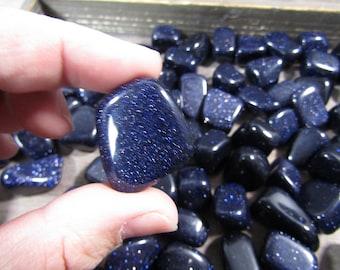 Blue Goldstone Medium / Large Tumbled Stone T26