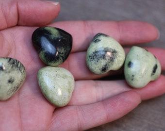 Serpentine Stone Shaped Heart K149