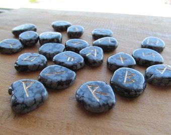 Snowflake Obsidian Stone Rune Kit RN5